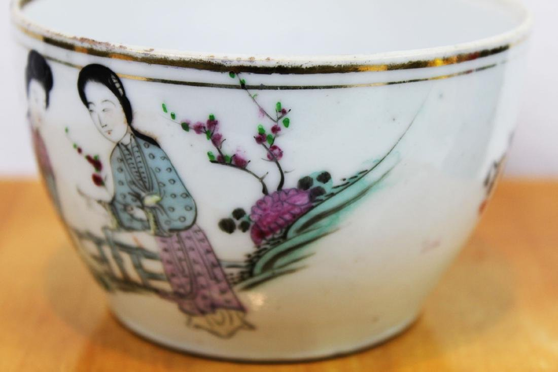 Antique Chinese Porcelain Cup 1800s' by Yongfa Luo - 3