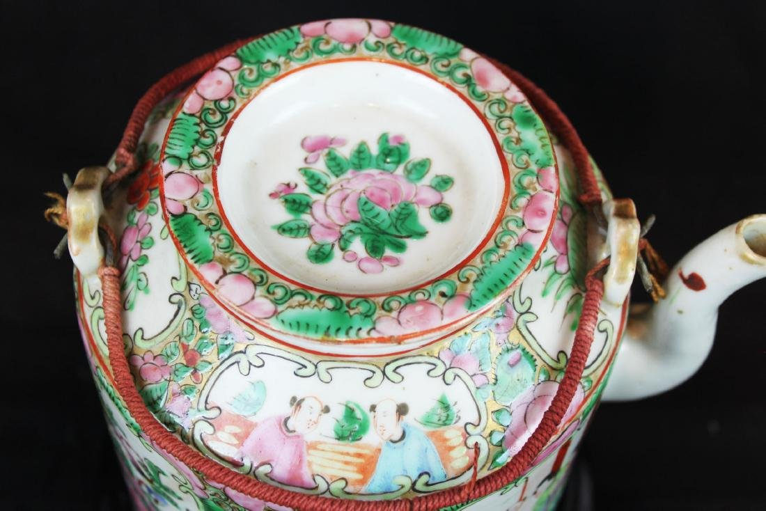 Three of Chinese Famillie Rose Porcelain Teapot set - 10