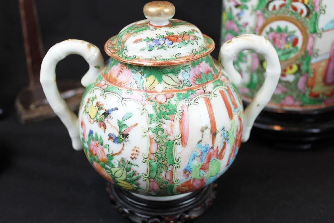 Three of Chinese Famillie Rose Porcelain Teapot set - 2