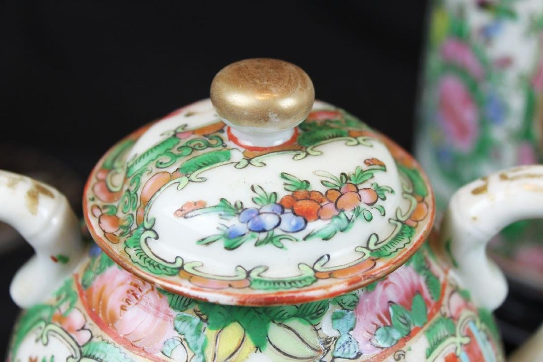 Three of Chinese Famillie Rose Porcelain Teapot set - 3