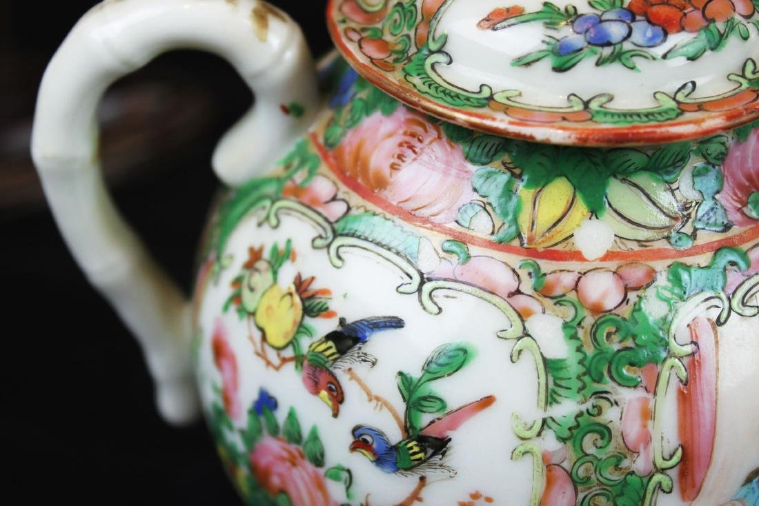 Three of Chinese Famillie Rose Porcelain Teapot set - 4