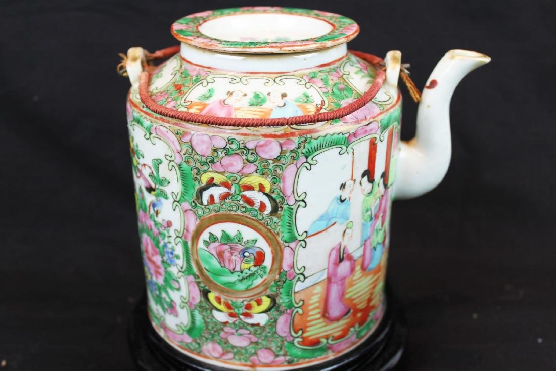 Three of Chinese Famillie Rose Porcelain Teapot set - 9