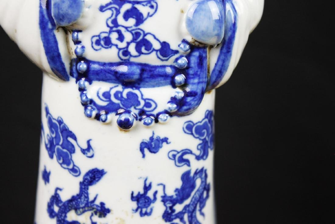 A Pair Chinese Porcelain Statue - 6