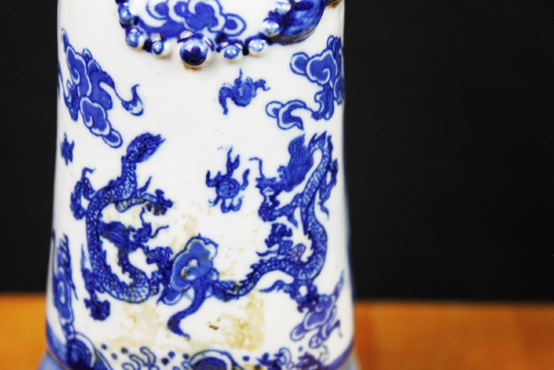 A Pair Chinese Porcelain Statue - 7
