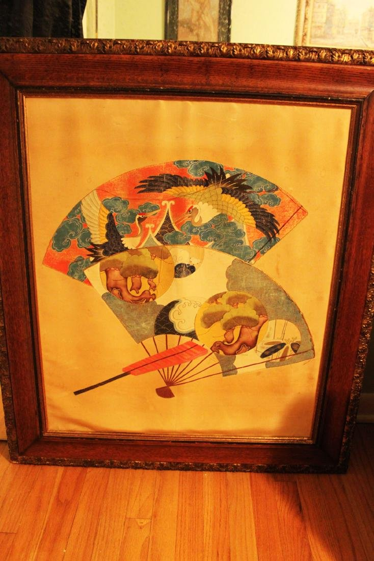 Antique Japanese Silk Painting