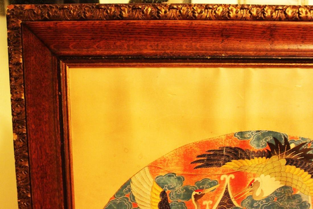 Antique Japanese Silk Painting - 2