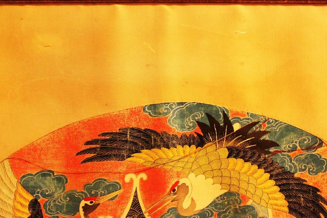 Antique Japanese Silk Painting - 3