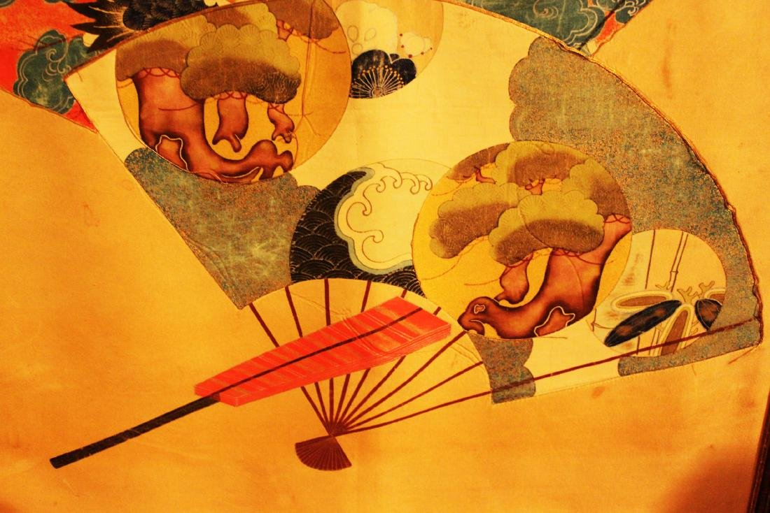Antique Japanese Silk Painting - 6