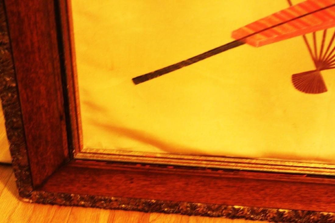 Antique Japanese Silk Painting - 7