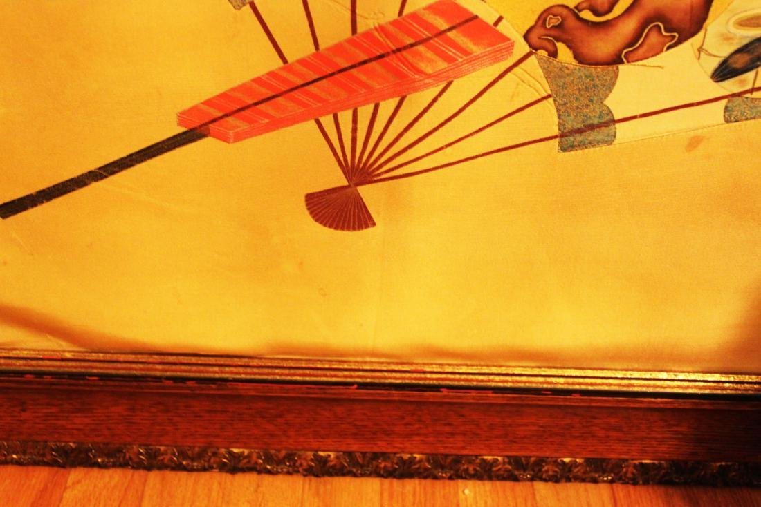 Antique Japanese Silk Painting - 8