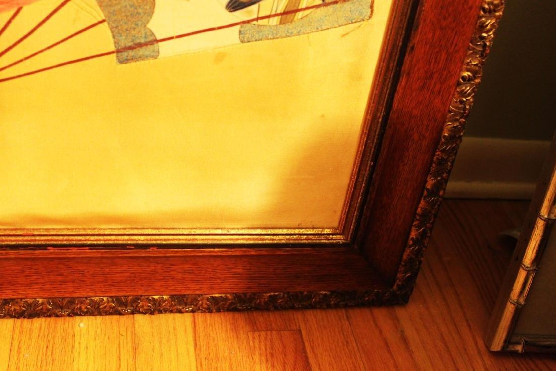 Antique Japanese Silk Painting - 9