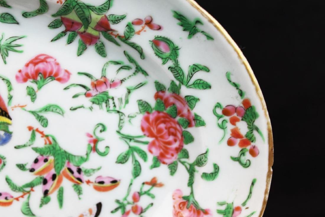 Antique Chinese Wucai Porcelain Plate - 5