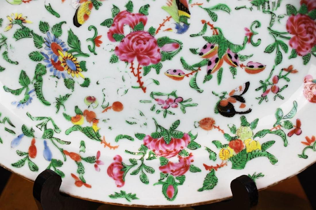 Antique Chinese Wucai Porcelain Plate - 6