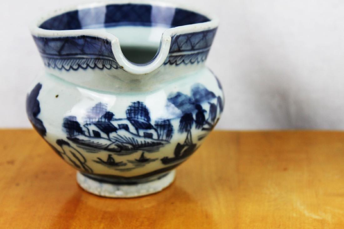 Antique Chinese Blue&White Sauce Jar - 7