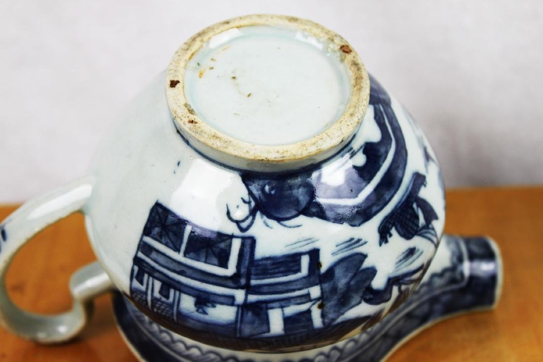Antique Chinese Blue&White Sauce Jar - 8
