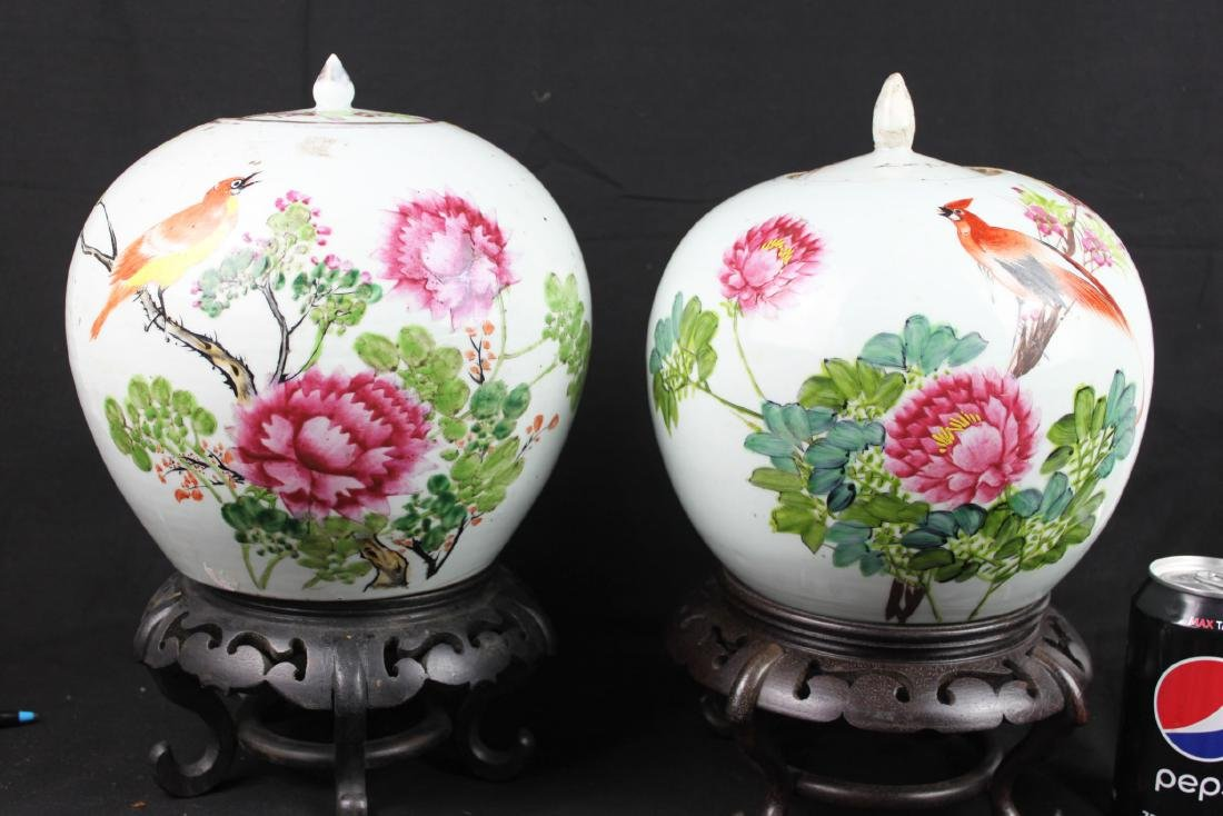 A Pair Antique Chinese Porcelain Jar