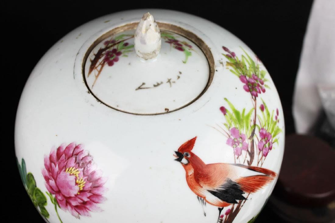 A Pair Antique Chinese Porcelain Jar - 5