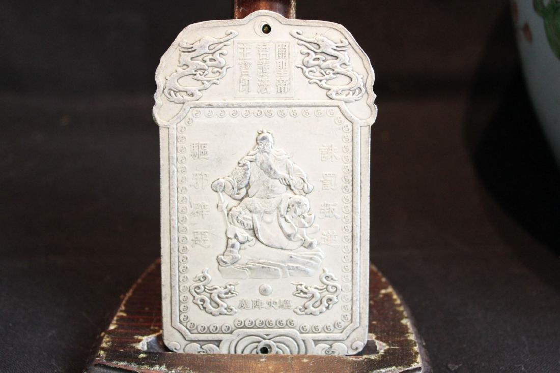 Antique Sterling Silver Pendant - 2