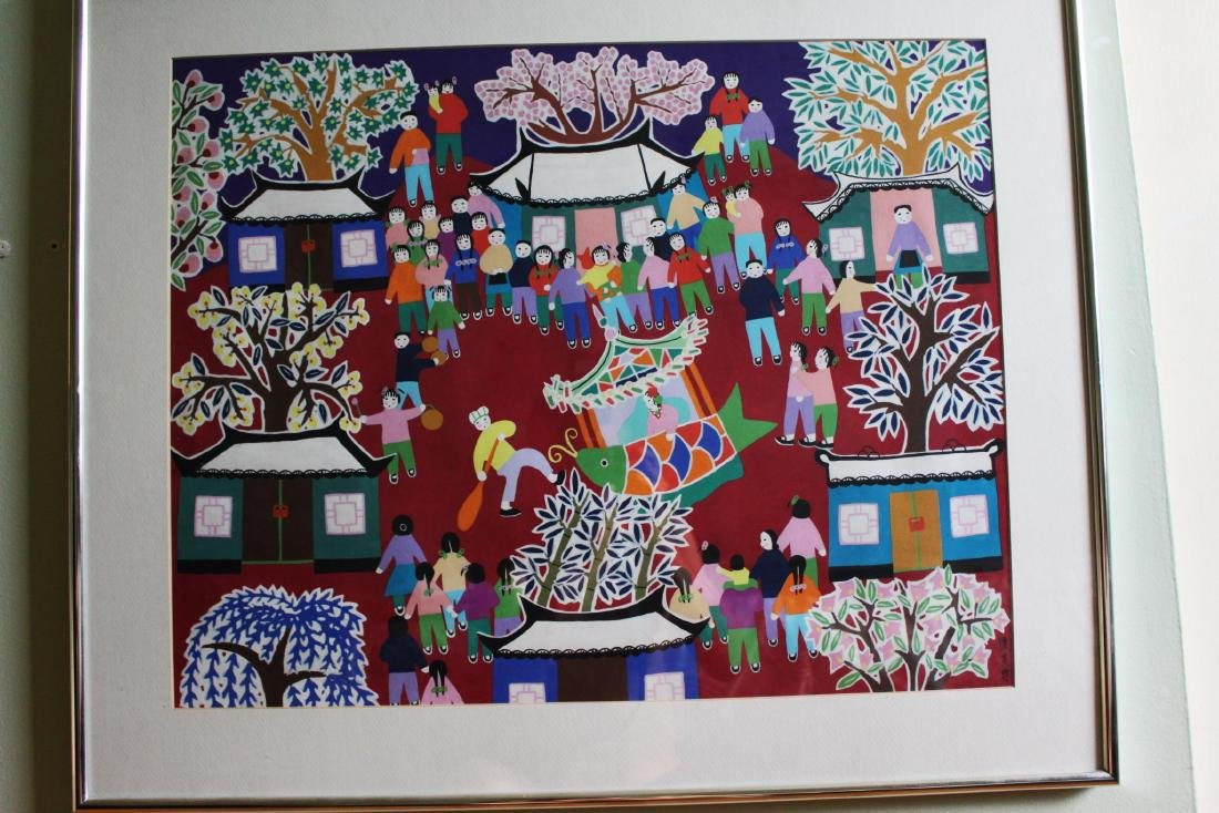 Chinese New Year Festival Painting by Furong Chen