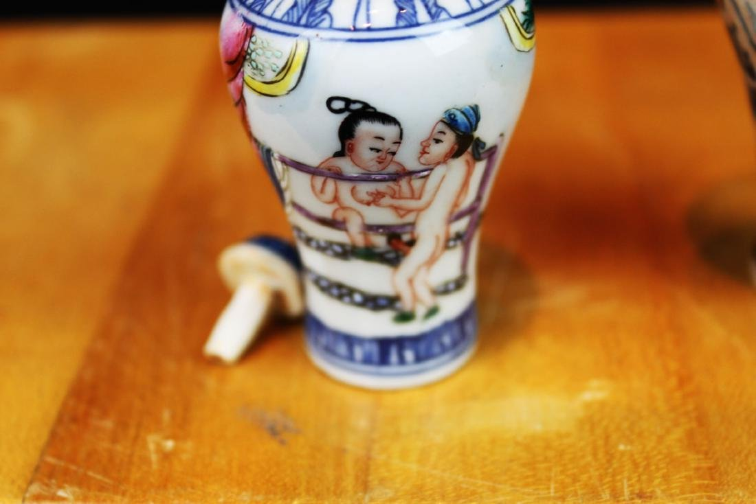 Antique Chinese Porcelain Snuff Bottle - 3