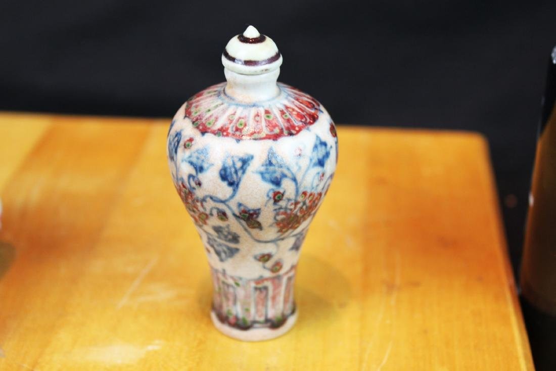 Antique Chinese Porcelain Snuff Bottle - 7