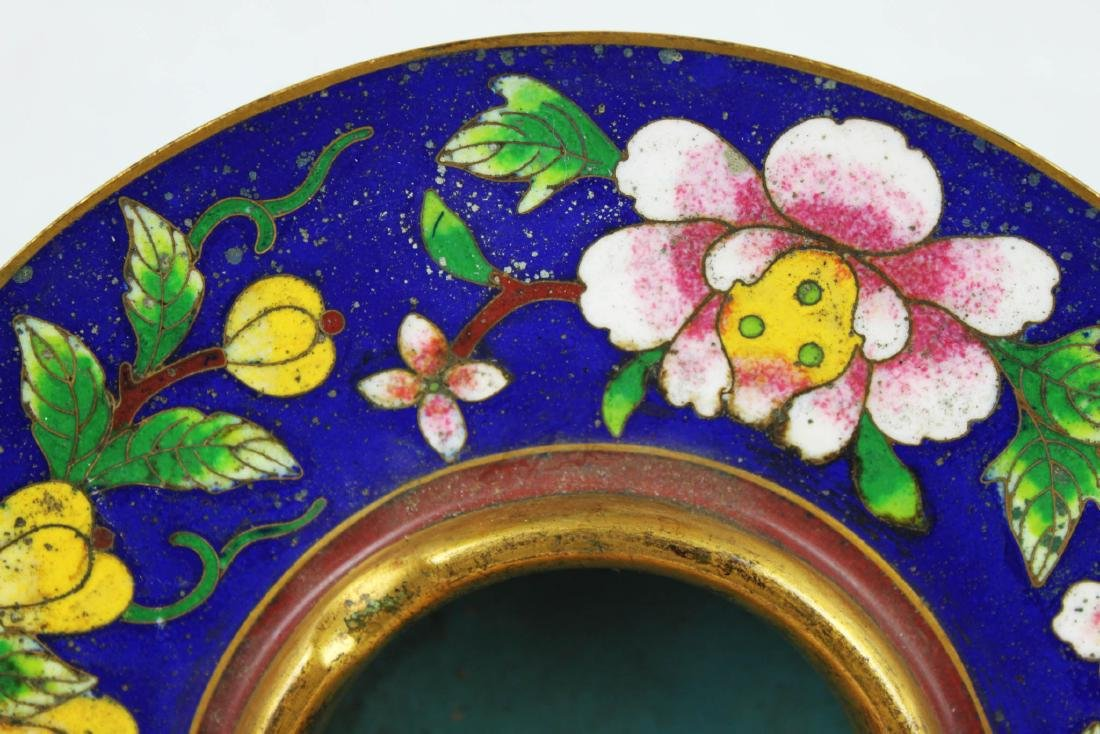 Antique Chinese Cloisonne Plate - 2