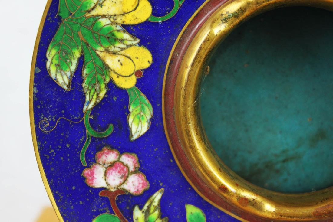 Antique Chinese Cloisonne Plate - 3
