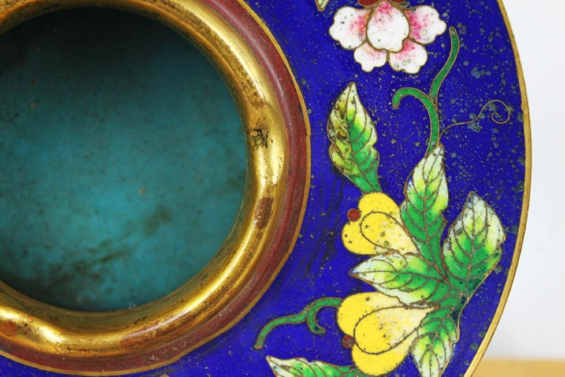 Antique Chinese Cloisonne Plate - 4