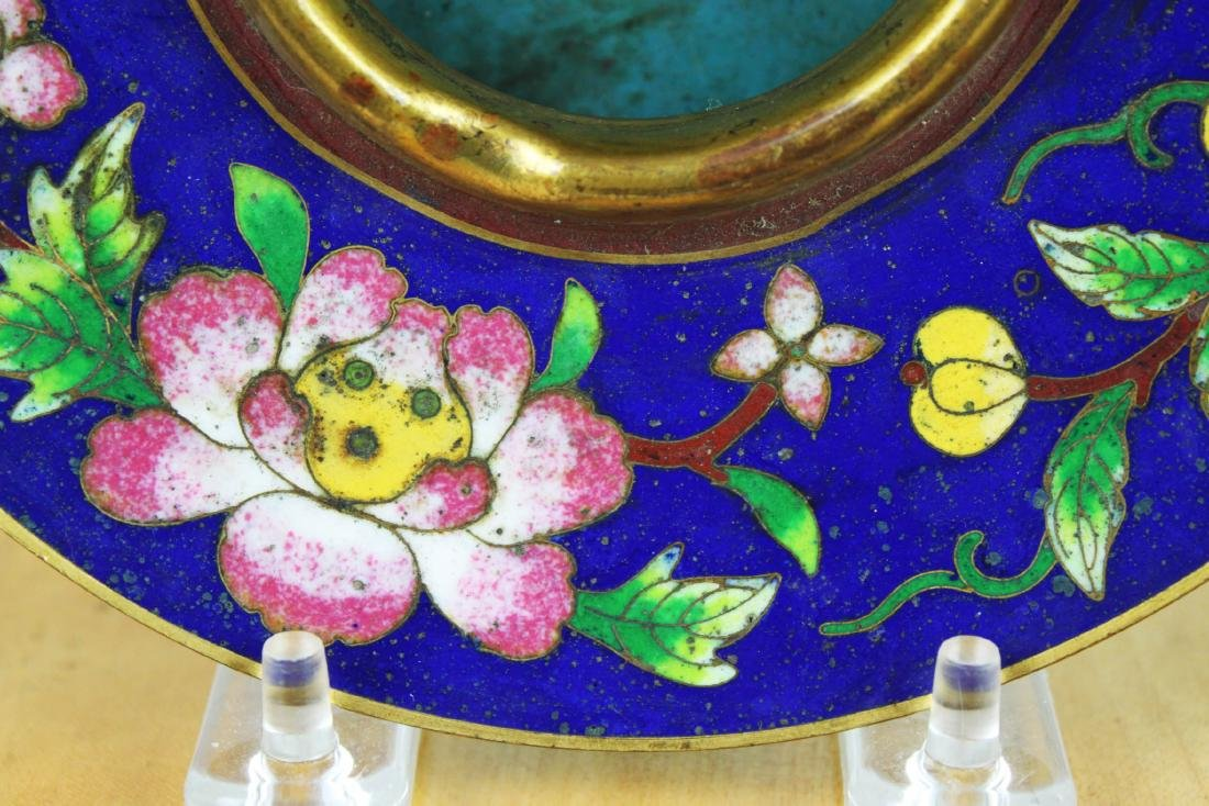 Antique Chinese Cloisonne Plate - 5