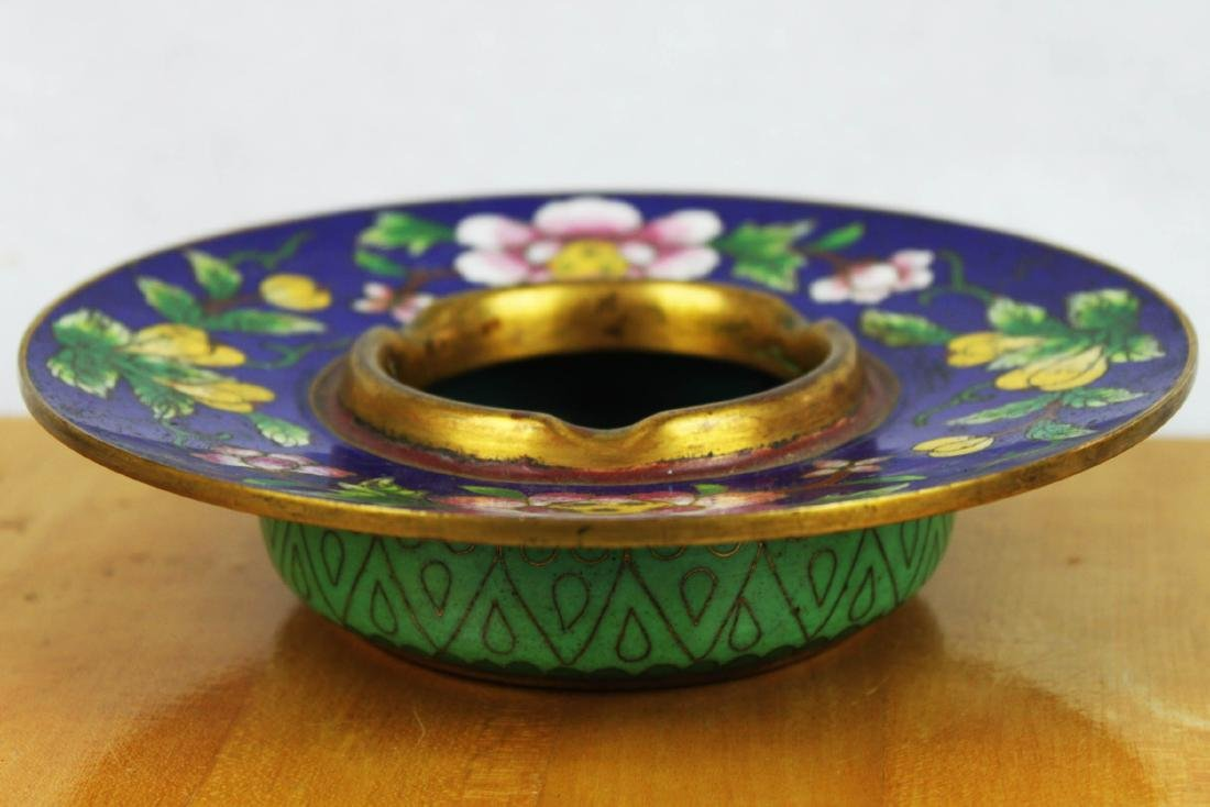 Antique Chinese Cloisonne Plate - 6