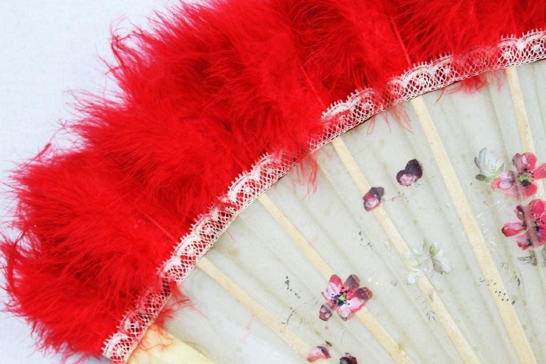 Two Antique Chinese Dancing Folding Fan - 2