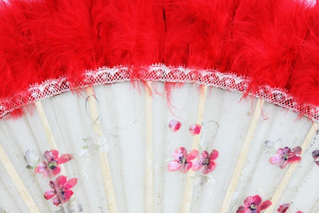 Two Antique Chinese Dancing Folding Fan - 3