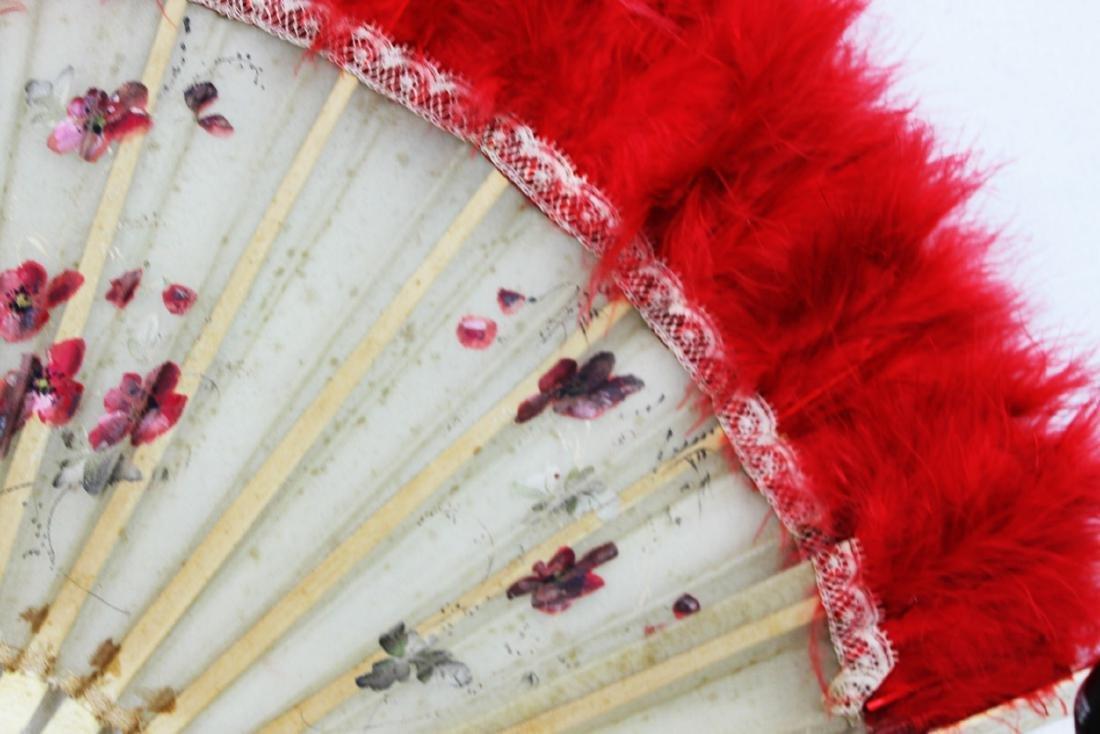Two Antique Chinese Dancing Folding Fan - 4