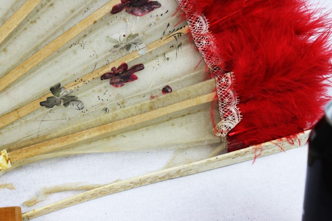 Two Antique Chinese Dancing Folding Fan - 5
