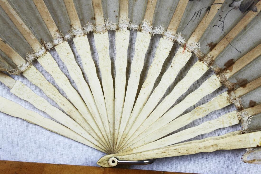 Two Antique Chinese Dancing Folding Fan - 6
