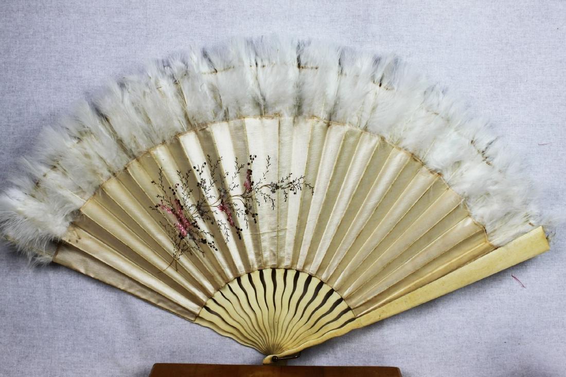 Two Antique Chinese Dancing Folding Fan - 7