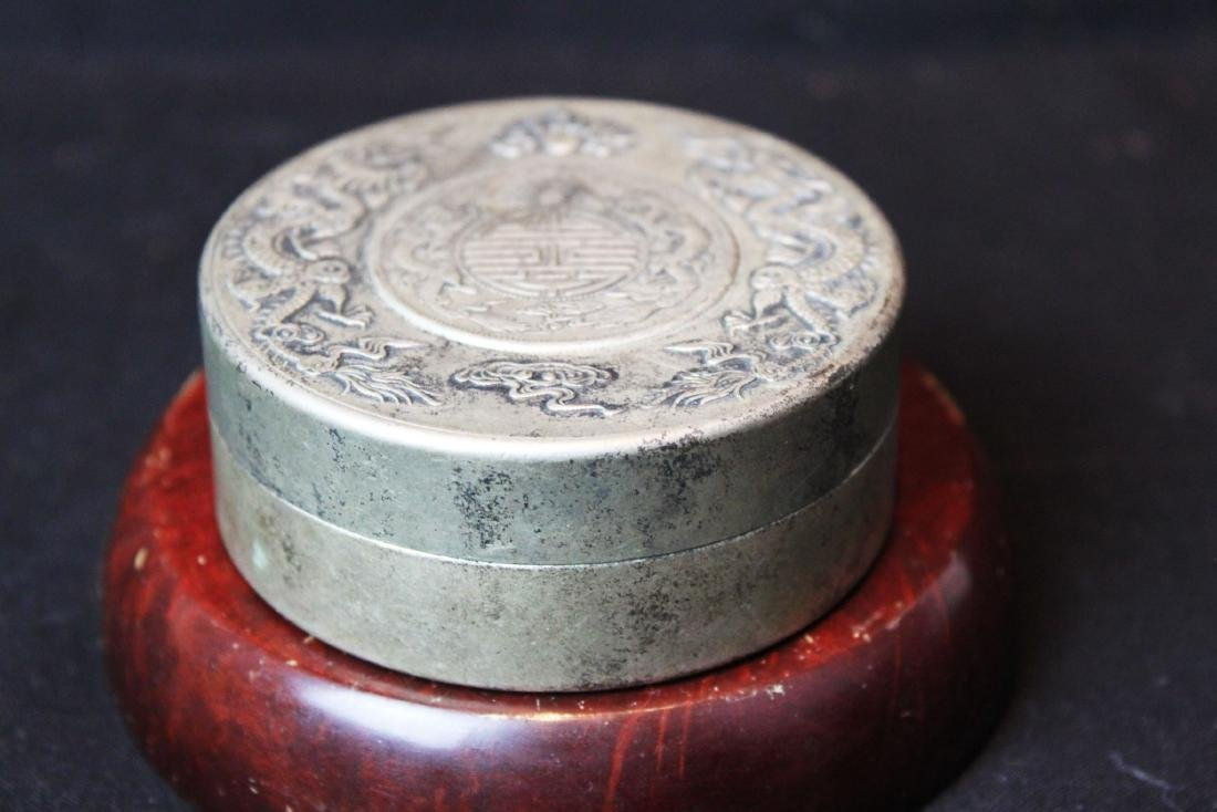 Antique Chinese Sterling Silver Jewlery box