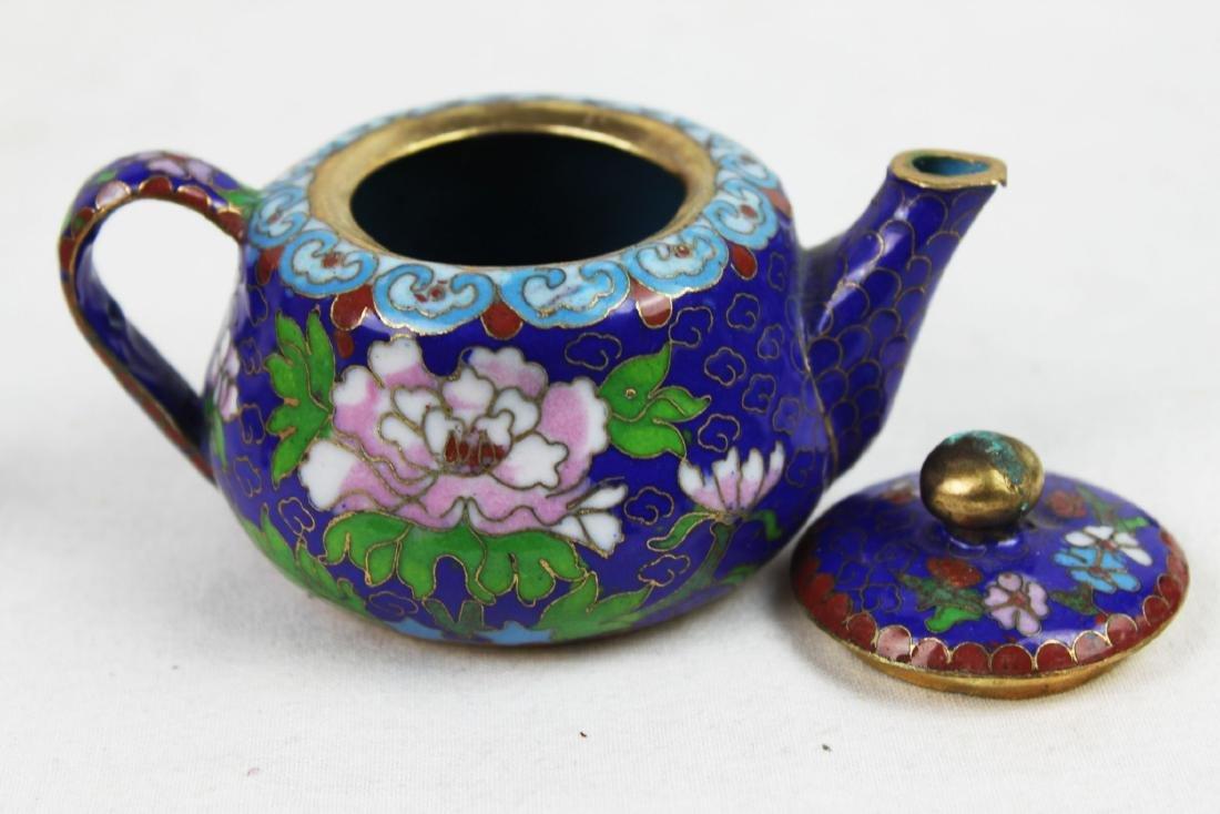 Three Antique Cloisonne Tea pots - 10