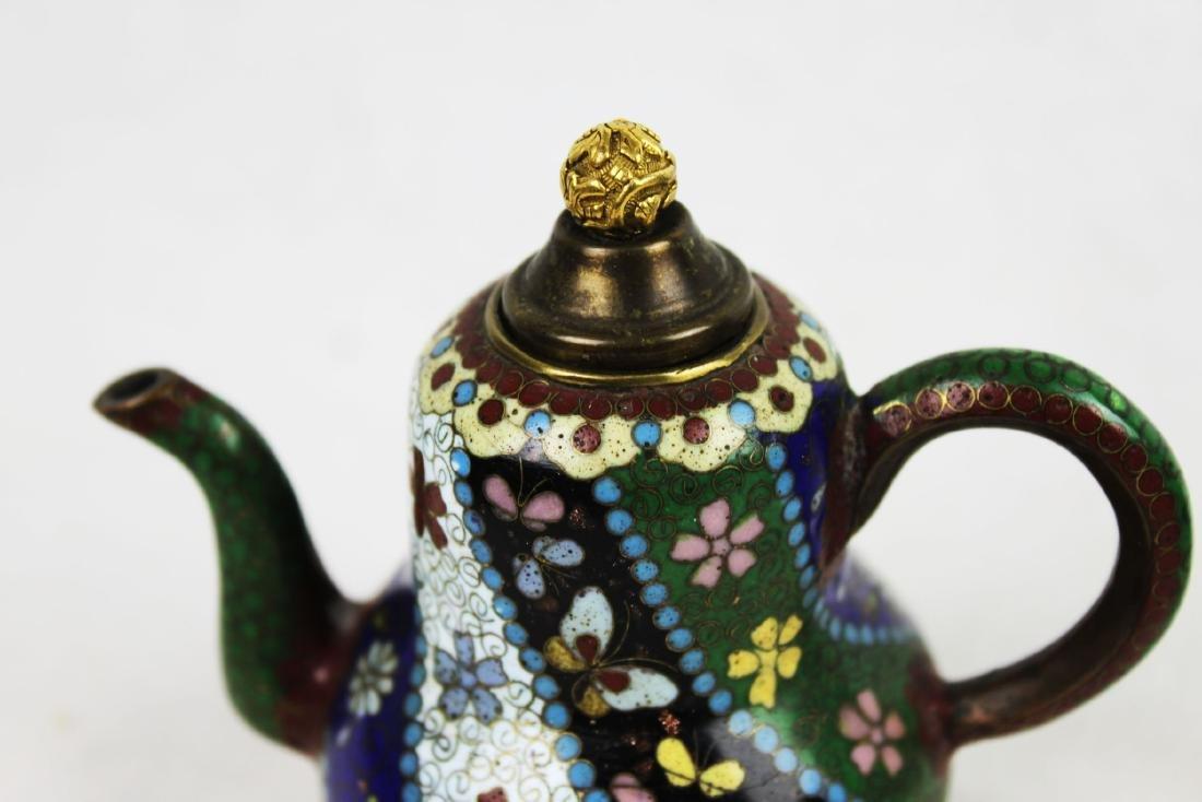 Three Antique Cloisonne Tea pots - 2