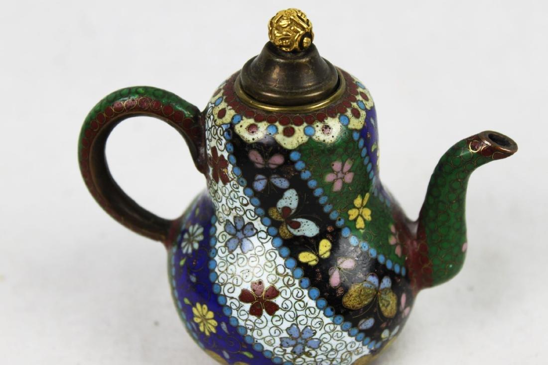 Three Antique Cloisonne Tea pots - 5