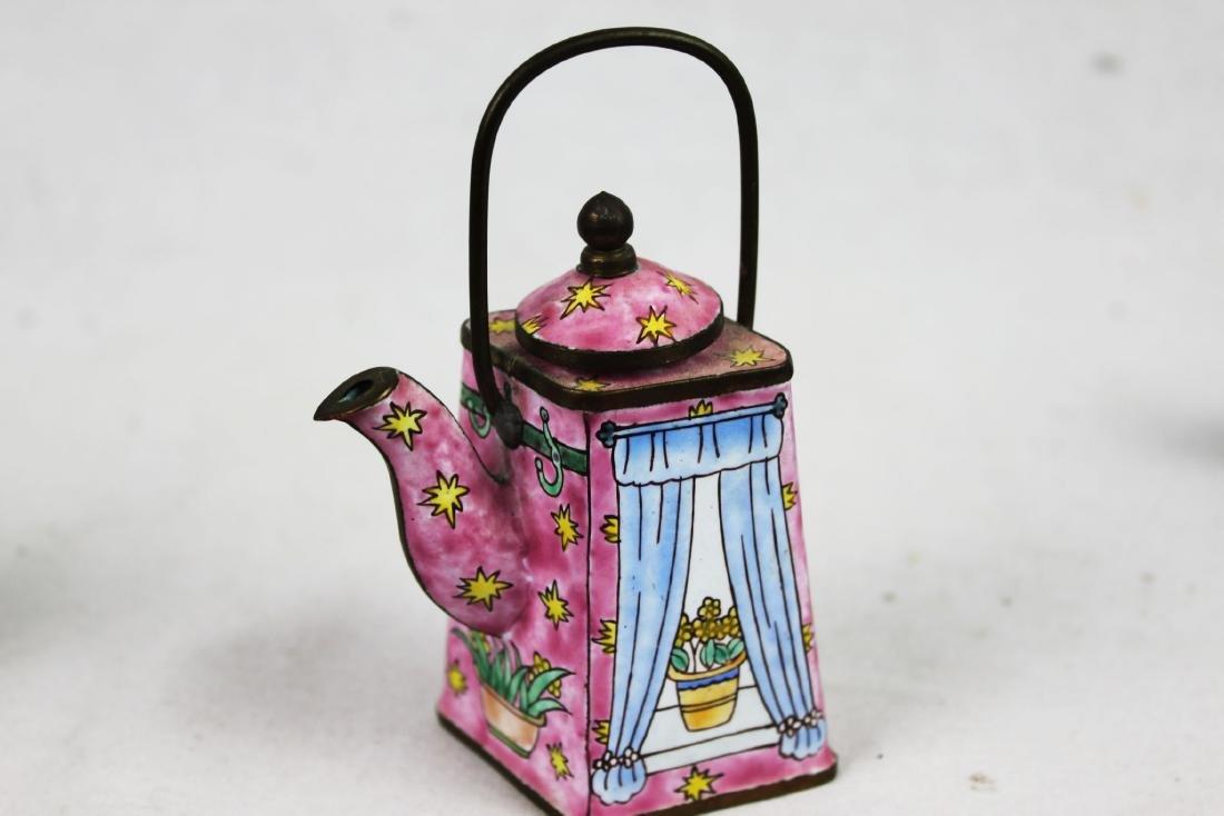 Three Antique Cloisonne Tea pots - 6