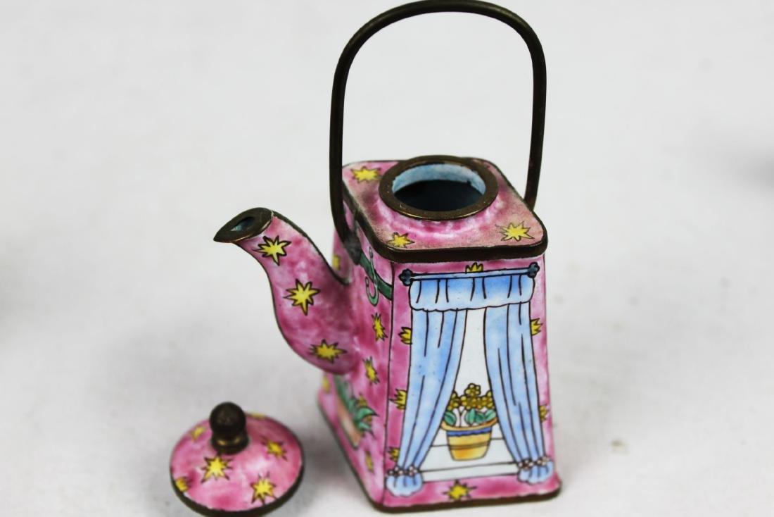 Three Antique Cloisonne Tea pots - 7