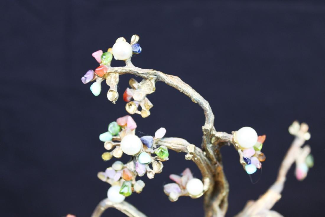 Antique Chinese Jade Rose Quartz Tree - 2