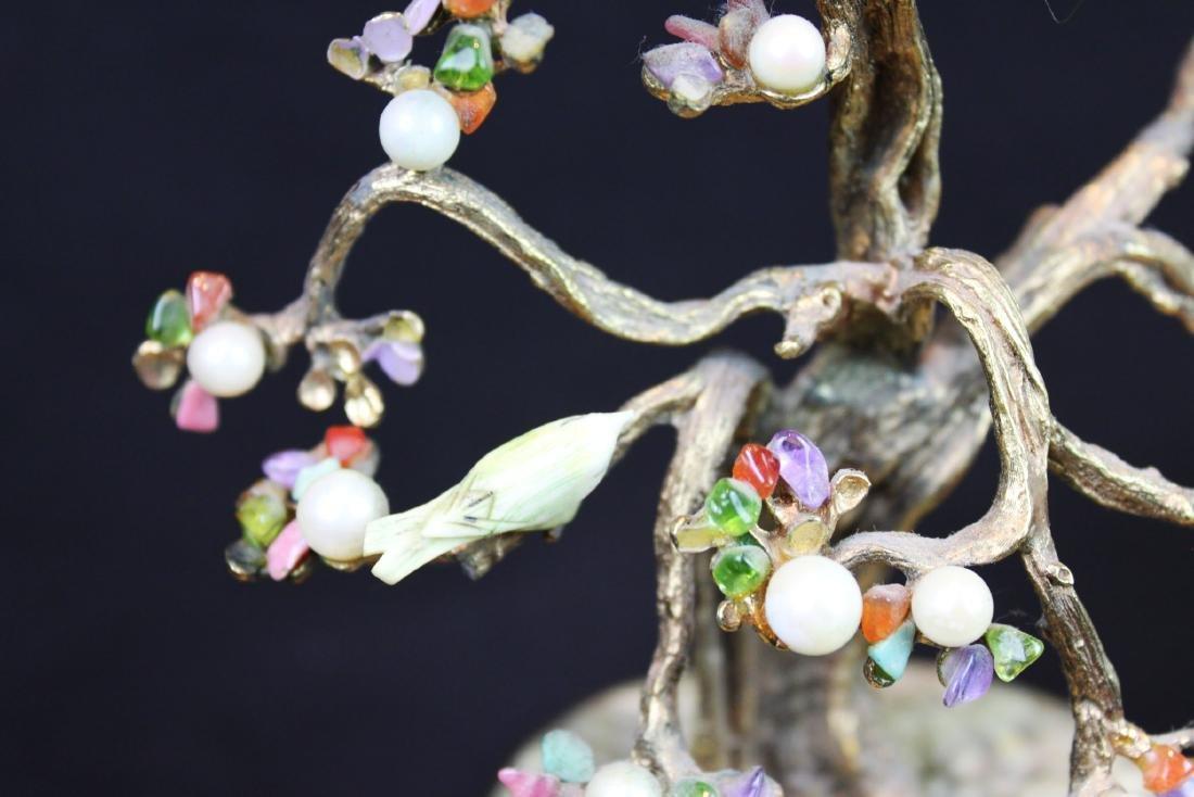 Antique Chinese Jade Rose Quartz Tree - 3