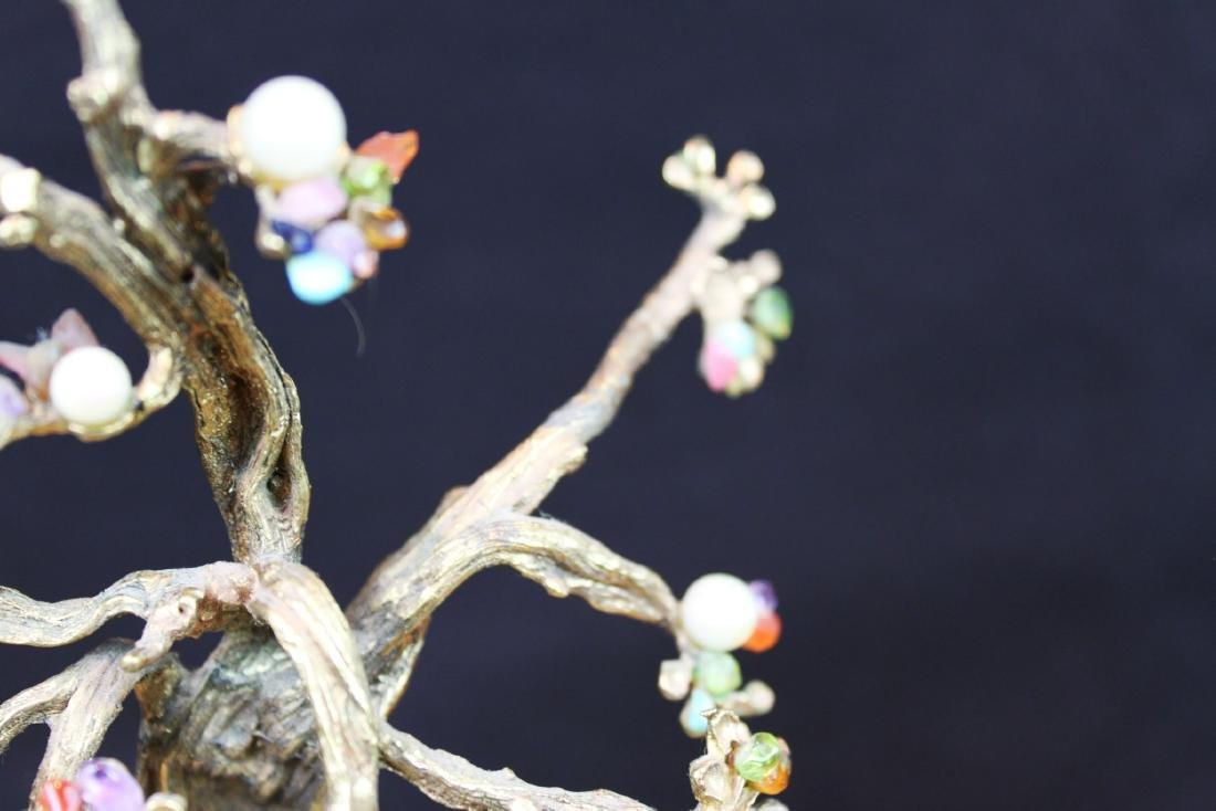 Antique Chinese Jade Rose Quartz Tree - 4