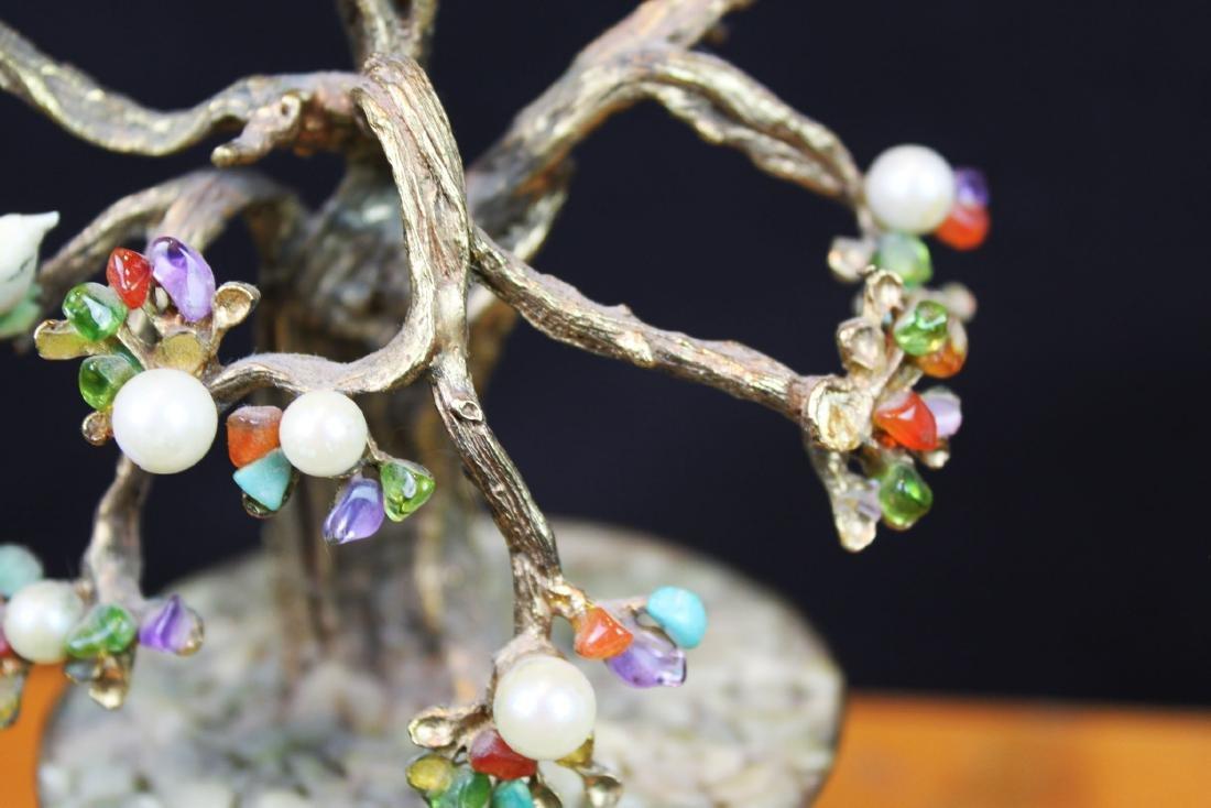 Antique Chinese Jade Rose Quartz Tree - 6