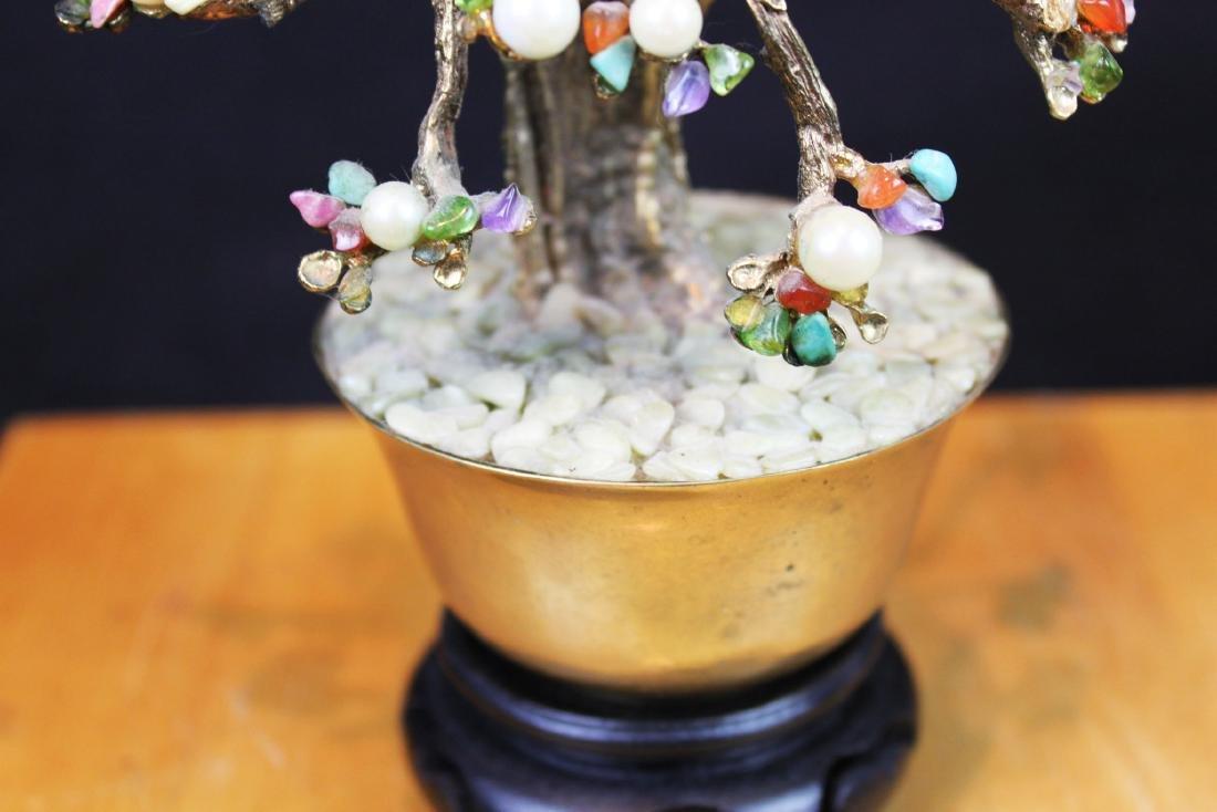 Antique Chinese Jade Rose Quartz Tree - 7