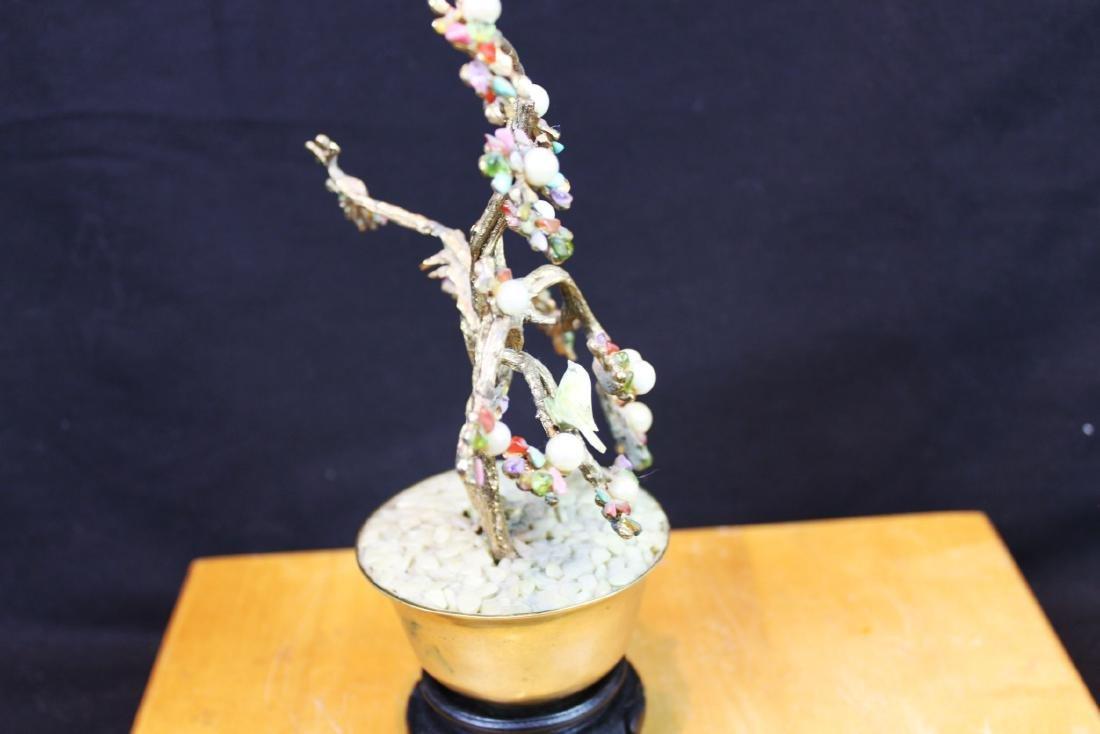 Antique Chinese Jade Rose Quartz Tree - 8