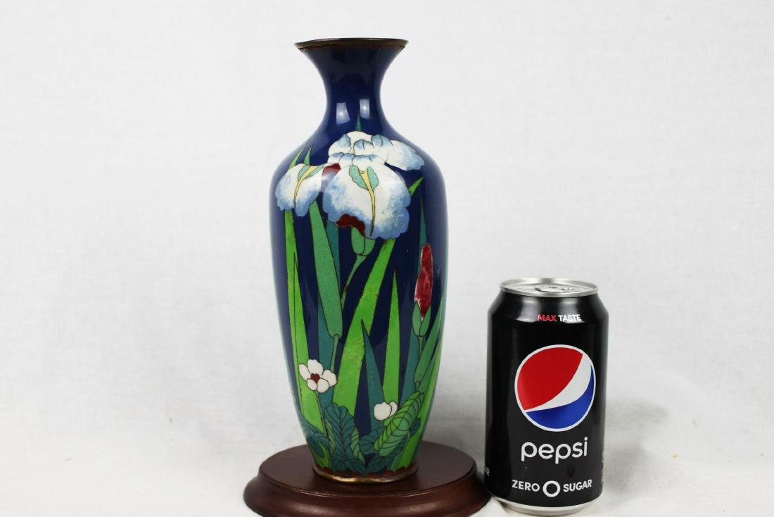 Blue Cloisonne Porcelain Vase