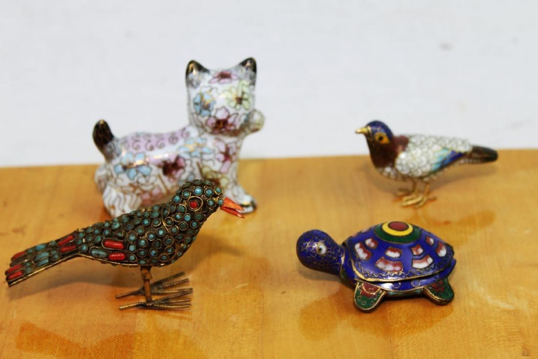 4 Antique Cloisonne items - 10